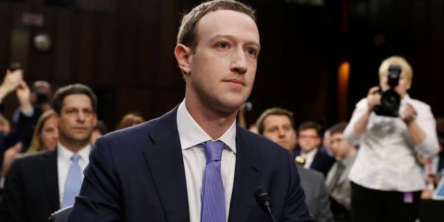 Facebook CEO Mark Zuckerberg listens to opening statements while testifying before a Senate Judiciary and Commerce Committees joint hearing regarding the company's use and protection of user data on Capitol Hill in Washington, D.C., April 10, 2018.