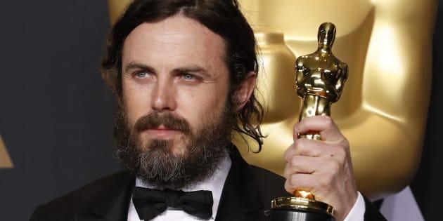 """Casey Affleck a remporté l'Oscar du meilleur acteur pour son rôle dans """"Manchester by the Sea"""", le 26 février à Los Angeles."""