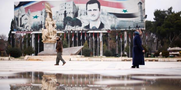 La place Saadallah al-Djabiri, à Alep en Syrie, le 17 décembre 2016.