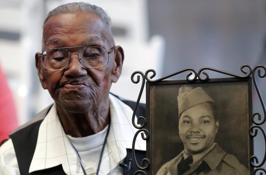 America's oldest World War II veteran celebrates his milestone birthday in style - AOL