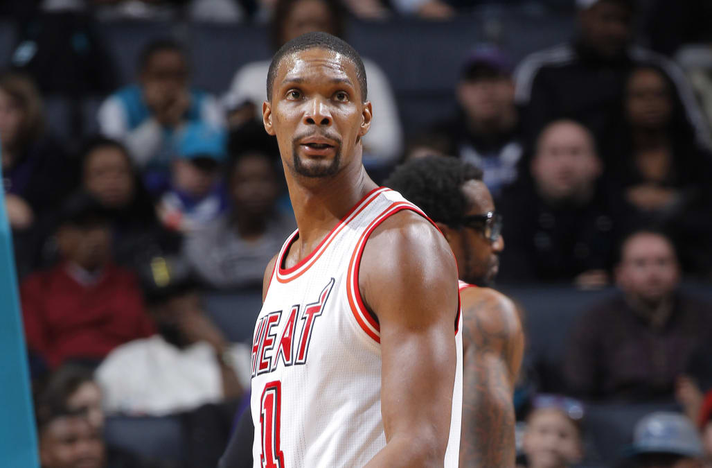 e7629653e42 Heat to retire Chris Bosh s No. 1 jersey - AOL News
