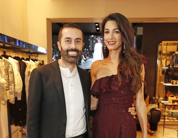 Amal Clooney is a knockout in sexy jumpsuit