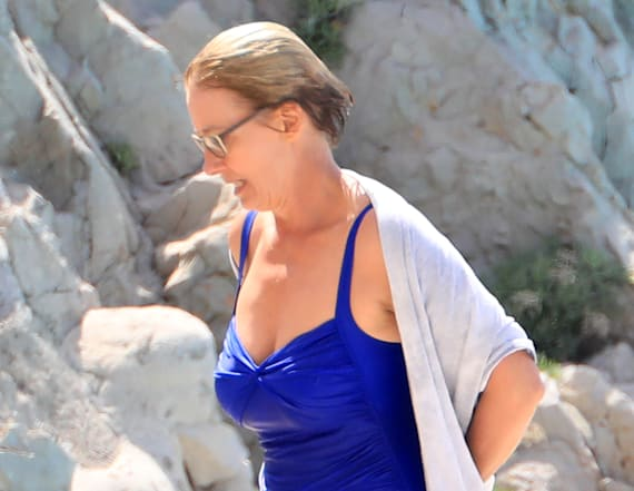 Emma Thompson, 58, shows off bathing suit body