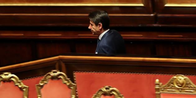 Giuseppe Conte in Senato nelle vesti di avvocato di una caus