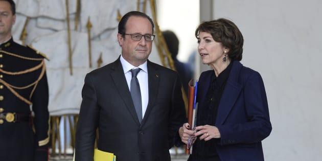 François Hollande et Marisol Touraine à l'Elysée le 28 octobre 2015.