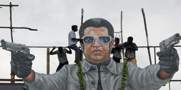 Rajinikanth's fans come out to streets
