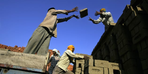 A brick factory in Guruwali village on the outskirts of Amritsar.