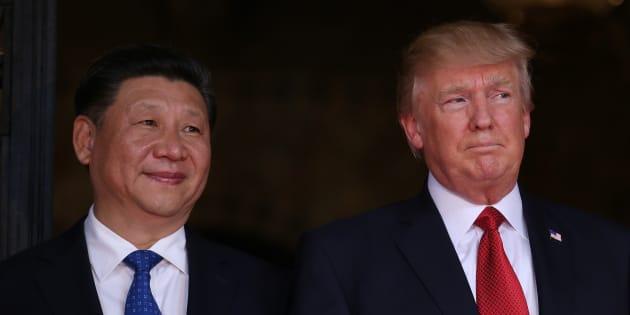 Les présidents Donald Trump et Xi Jinping lors de leur rencontre le 6 avril à Palm Beach, en Floride.