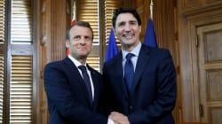 Macron et Trudeau affirment leur soutien à un «multilatéralisme fort» avant le