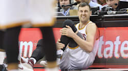 The Sickening Moment Andrew Bogut Breaks His Leg In First Game For