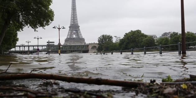 Vue de la Seine le 3 juin 2016.