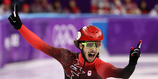 Canada's Samuel Girard has won gold in the 1,000-metre short-track speedskating event.
