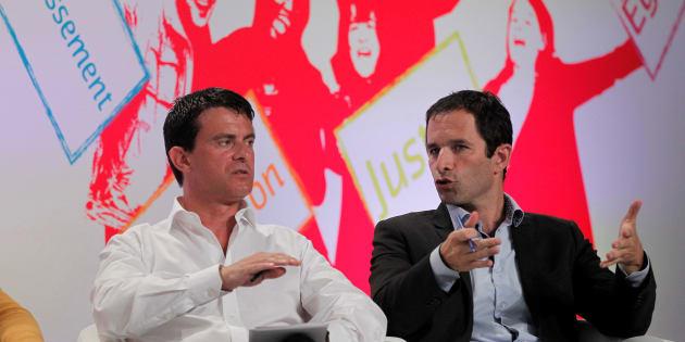 Manuel Valls et Benoît Hamon en 2012.
