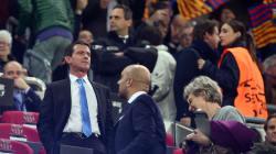 Valls et Hidalgo ont fait le déplacement au Camp Nou pour