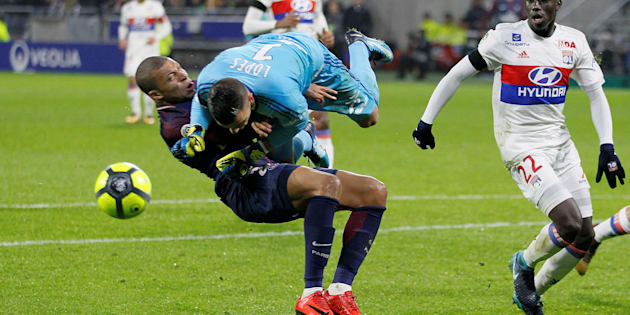 Le choc impressionnant de Kylian Mbappé avec Anthony Lopes ce 21 janvier 2018.