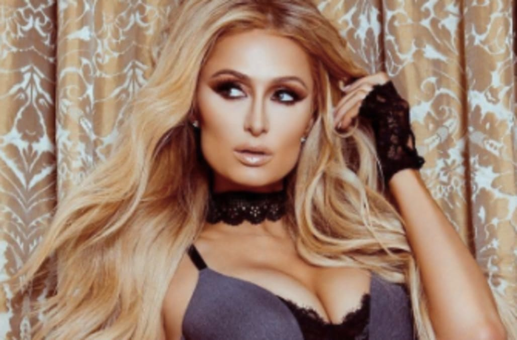 dcfc38a92115f Paris Hilton flaunts enviable physique in barely-there lingerie ...