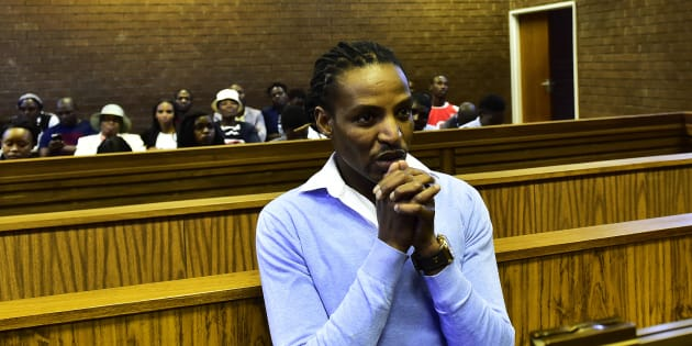 "Convicted rapist Sipho ""Brickz"" Ndlovu during his sentencing at the Roodepoort Magistrates' Court on October 17 2017."
