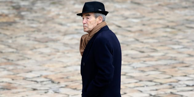 Robert Badinter aux obsèques d'Yves Guena, en mars 2016.