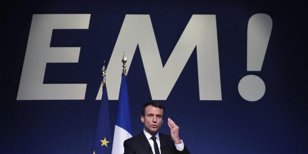 Emmanuel Macron lors de la présentation de son programme ce jeudi.