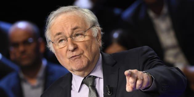 Jacques Cheminade, candidat de Solidarité & Progrès, lors du débat télévisé du 4 avril 2017.