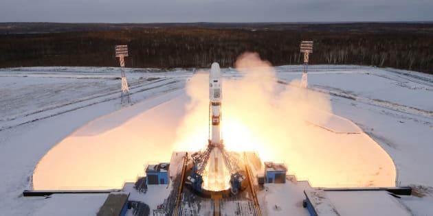Lancement de la fusée Soyouz 2.1B, 28 novembre 2017.