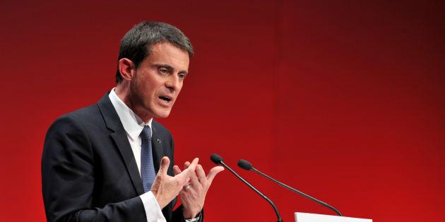 Manuel Valls à Tours le 22 octobre 2016.