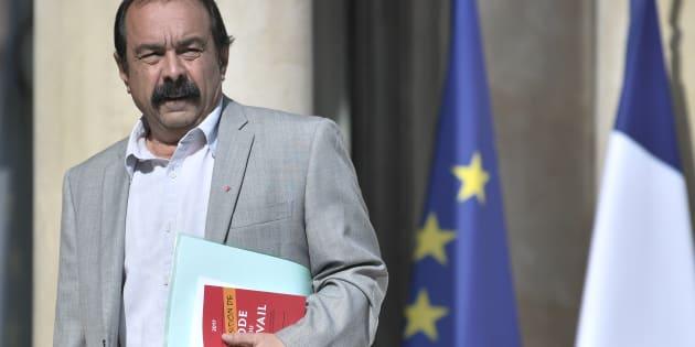 Le Secrétaire général de la CGT Philippe Martinez arrive à l'Élysée le 23 mai.