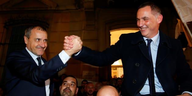Gilles Simeoni et Jean-Guy Talamoni, les deux grands vainqueurs des élections territoriales en Corse.