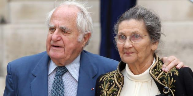 Simone Veil et Antoine Veil (ici en juin 2011 à Paris), un couple inséparable jusqu'au Panthéon.