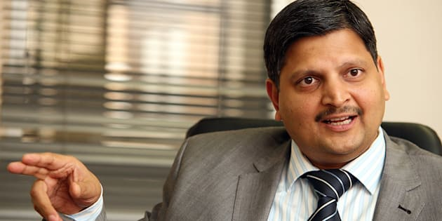 Billionaire businessman and newspaper publisher Atul Gupta at the New Age offices in Midrand. Photo by Kevin Sutherland/ Sunday Times/Gallo Images/Getty Images