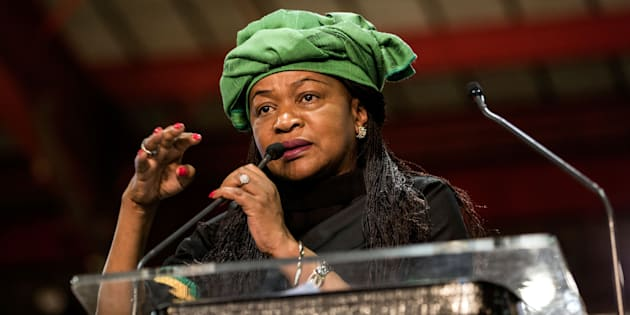 GULSHAN KHAN via Getty Images                       National Assembly speaker Baleka Mbete at the ANC's 54th national conference last year