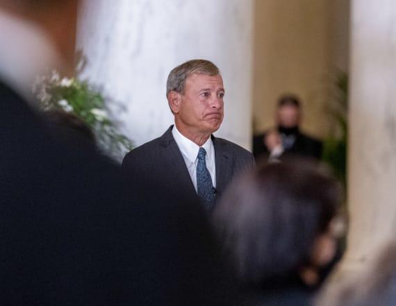John Roberts's moving tribute at Ginsburg memorial
