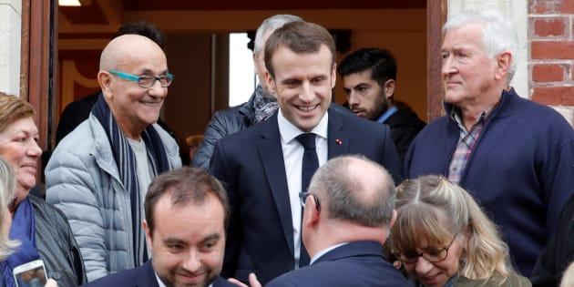 Emmanuel Macron à la mairie de Gasny (Eure) le 15 janvier 2019.