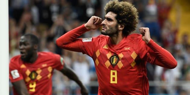 Fellaini marcou o segundo gol da Bélgica e participou da histórica virada.