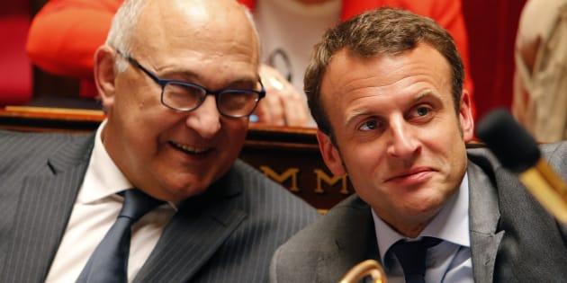 Michel Sapin a salué le programme économique d'Emmanuel Macron.
