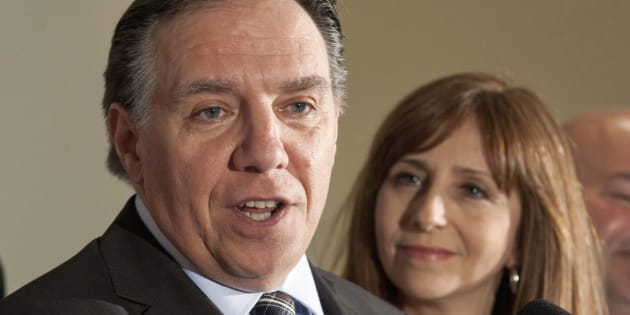 Photo d'archives de François Legault et de Nathalie Roy.