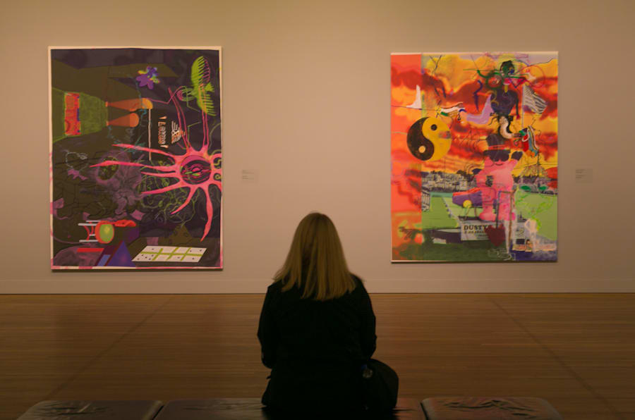MONTREAL, CANADA - JUNE 28:  Contemporary pop art is on display at the Montreal Museum of Fine Arts as viewed on June 28, 2015 in Montreal, Quebec, Canada. Montreal, the largest city in Quebec Province, is a predominantly French-speaking, multi-cultural city set on an island on the Saint Lawrence River. (Photo by George Rose/Getty Images)