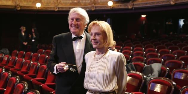 """Pour Gilles Jacob, """"c'est un affaire de sentiment et d'émotion nationale."""" (Photo: Claude Rich avec son épouse Catherine Renaudin lors de la 38e cérémonie des César en 2013 REUTERS/Charles Platiau)"""
