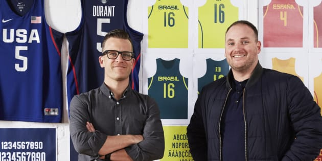 SouthWestWest creative director Andy Sargent and director of strategy Jonathan Price designed typography for the USA, Brazilian and Spanish basketball team uniforms.