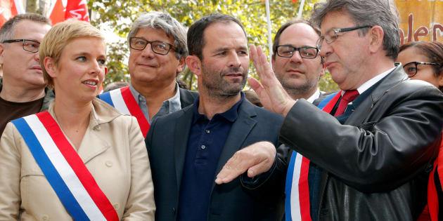 Jean-Luc Mélenchon et Benoît Hamon ensemble à Paris au mois de septembre 2017.