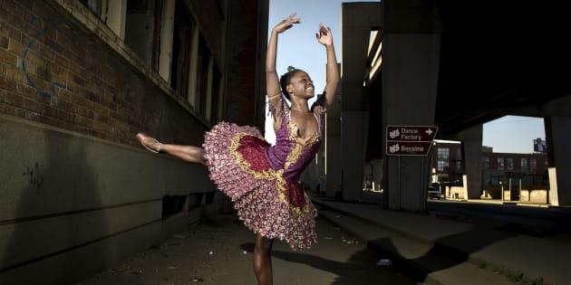 Ballet dancer Michaela DePrince poses on July 12 2012 in Johannesburg, South Africa.