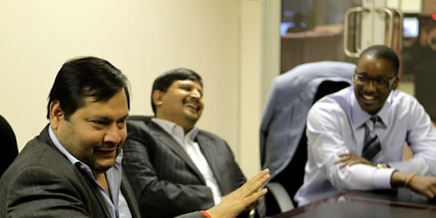 Indian businessmen Ajay and Atul Gupta, and Sahara director, Duduzane Zuma.