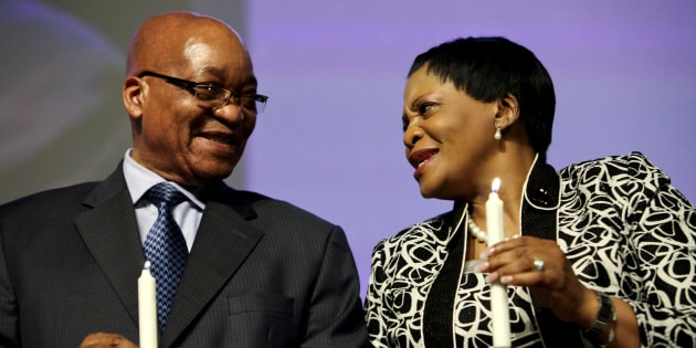 President Jacob Zuma and Gauteng Premier Nomvula Mokonyane