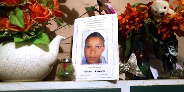 The programme used at Anene Booyson's funeral in May in Bredasdorp.