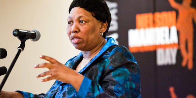 JOHANNESBURG, SOUTH AFRICA - APRIL 10: (SOUTH AFRICA OUT) Minister of Basic Education Angie Motshekga attends a press conference on April 10, 2012 in Johannesburg, South Africa. The minister was announcing plans for International Nelson Mandela Day 2012 to be held on July 18, which is the former president 's 94th birthday. This year the Department of Basic Education has launched a School Project whereby 94 of the country's poorest schools will be refurbished.  (Photo by Foto24/Gallo Images/Getty Images)