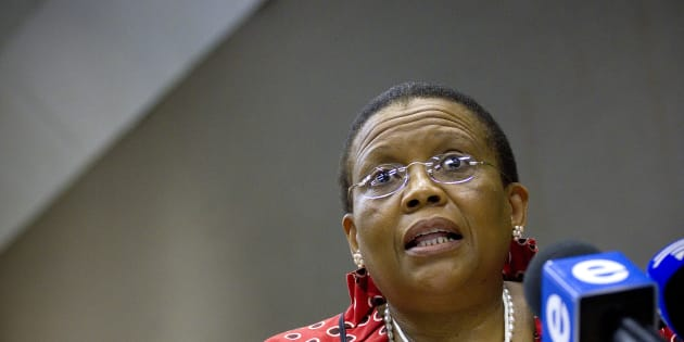 Pansy Tlakula from the IEC at the Press Freedom Commission in Johannesburg, South Africa on February 1 2012.