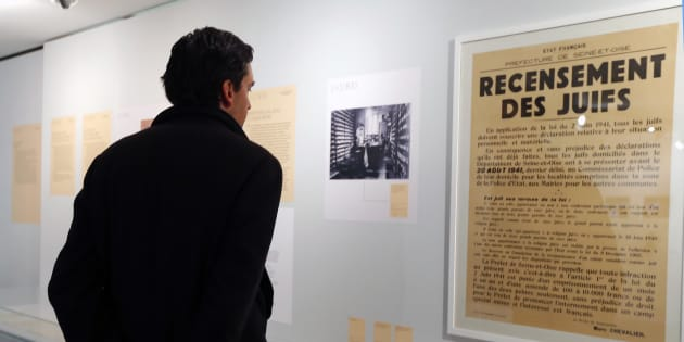 Un jeune sur cinq n'a jamais entendu parler de la Shoah (Photo d'illustration prise au mémorial de la Shoah à Paris, en février 2013).