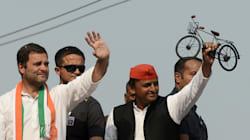 SP, BJP Workers Clash At Akhilesh-Rahul's Joint Roadshow In