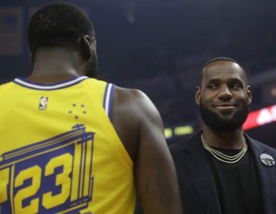 LeBron hides laughter as Draymond Green gets ejected