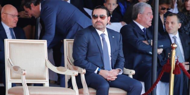 Saad Hariri lors de la parade militaire du 22 novembre, organisée à l'occasion de la fête nationale libanaise.